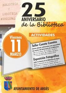 CARTEL 25 ANIVERSARIO BIBLIOTECA ARGÉS