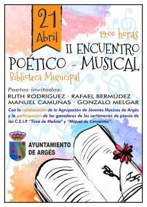 CARTEL II ENCUENTRO POÉTICO MUSICAL ARGES 2017