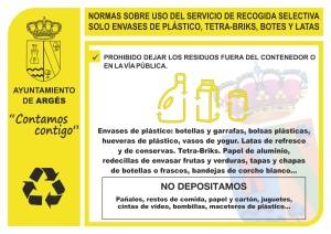 NORMAS USO RECOGIDA ENVASES DE PLÁSTICO_AYTO ARGES